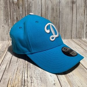 """New Era 9FORTY """"D"""" Dodgers Teal Blue Youth Snap Ba"""